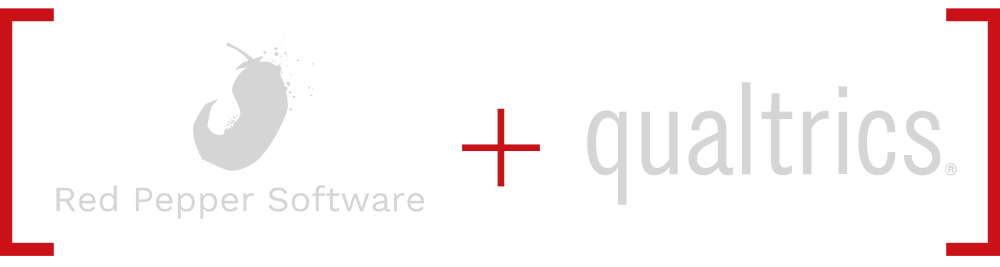 Red Pepper Software and Qualtrics Logos